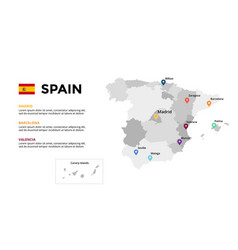 spain map infographic template slide vector image