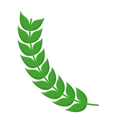 stem with leaves icon vector image