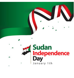 Sudan independence day template design vector