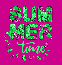 summer time banner 1 vector image