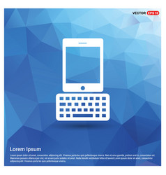 Tablet computer and keyboard icon vector