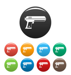 toy water gun icons set color vector image