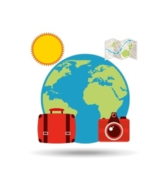travel vacations design vector image