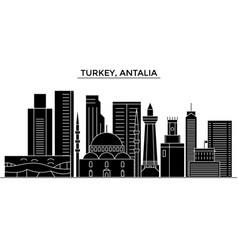 Turkey antalia architecture city skyline vector
