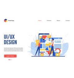 ui ux design app creation vector image
