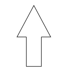 up arrow on white background vector image