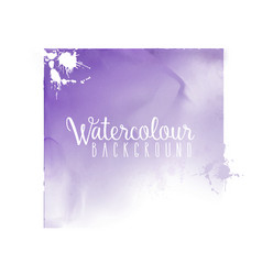 Watercolour square background vector
