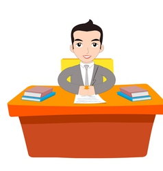 Businessman Working At Office vector image vector image