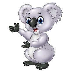 Cartoon koala presenting isolated vector