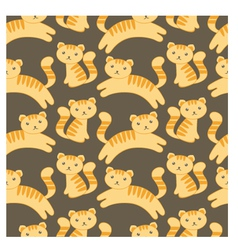 cute kitten pattern vector image vector image