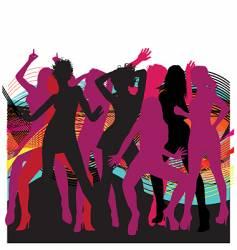 Dancin' Girls vector image vector image
