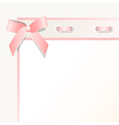 frame with a bow vector image