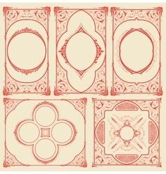 Frames set for cards with floral details vector image