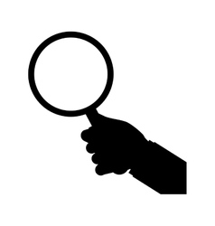 isolated magnifying glass vector image vector image