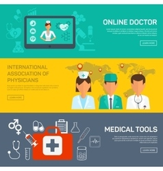 Online medical diagnosis and treatment vector image