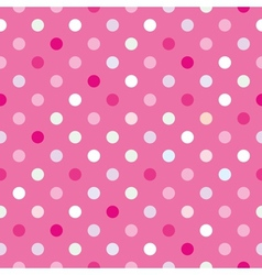 Colorful tile background pink polka dots wallpaper vector image