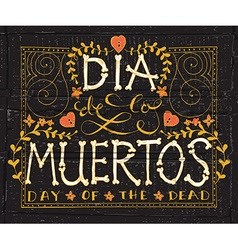 Day of the dead set vector image