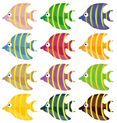 sweet and funny fish color vector image