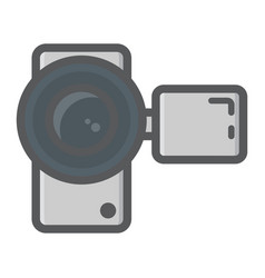 Video camera colorful line icon device electronic vector