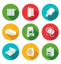 Climate equipment Icons Set vector image vector image