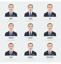 Emotions of a Businessman vector image