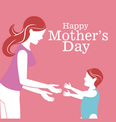 happy mothers day-woman with baby vector image