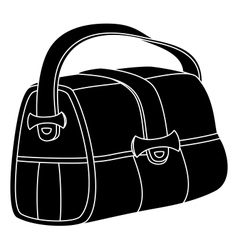 Leather bag silhouette vector image