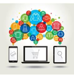Online shopping Modern technology vector image vector image