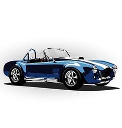 Classic sport car cobra roadster blue vector