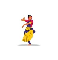 Hindu girl sign brunette indian dancer princess vector