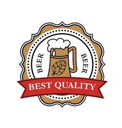 Retro brewery label vector image vector image