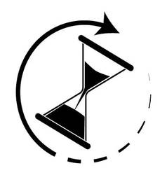 Time is running Hourglass monochrome vector image vector image