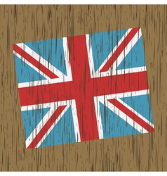 uk flag on wood vector image vector image