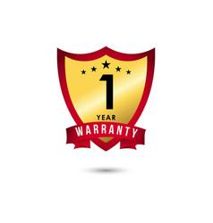1 year warranty template design vector