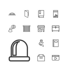 13 open icons vector