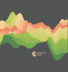 abstract background with dynamic effect vector image