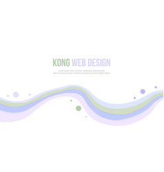 Abstract header website wave and bubble design vector
