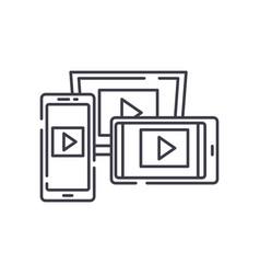 adaptive video design line icon concept adaptive vector image