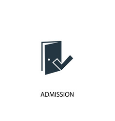 Admission icon simple element vector