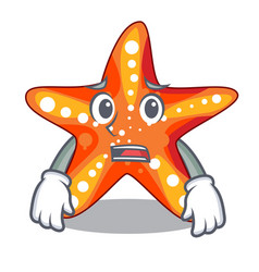 Afraid starfish isolated with in the cartoons vector