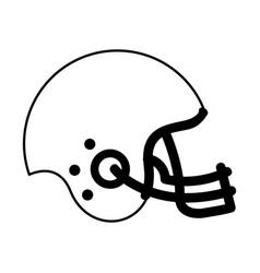 american football helmet icon vector image