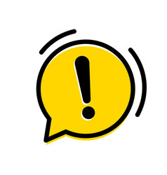 Attention warning exclamation mark icon vector