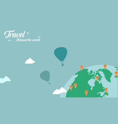 Background of travel theme flat vector
