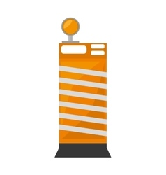 barrier block construction light alert vector image