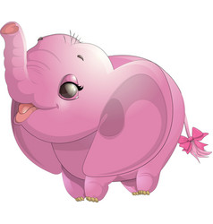 beautiful cute elephant vector image