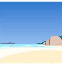 Beautiful seascape vector image