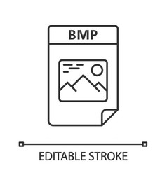 Bmp file linear icon vector