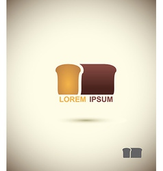 Bread logo Slice of bread Concept for bakery and vector