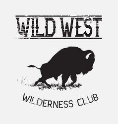 Buffalo wild west vector
