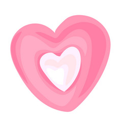 candy heart icon cartoon style vector image